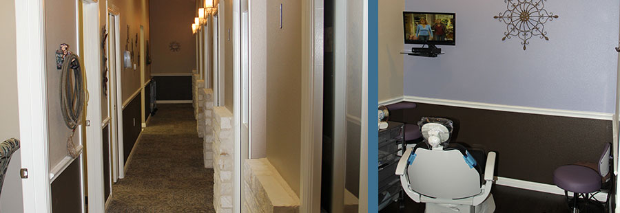 Hallway and Patient Room - Tour of Victoria TX Dentistry